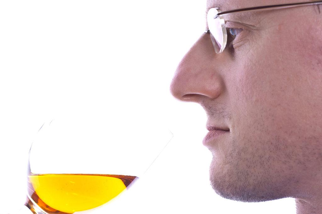 Dessertwein im Weinglas