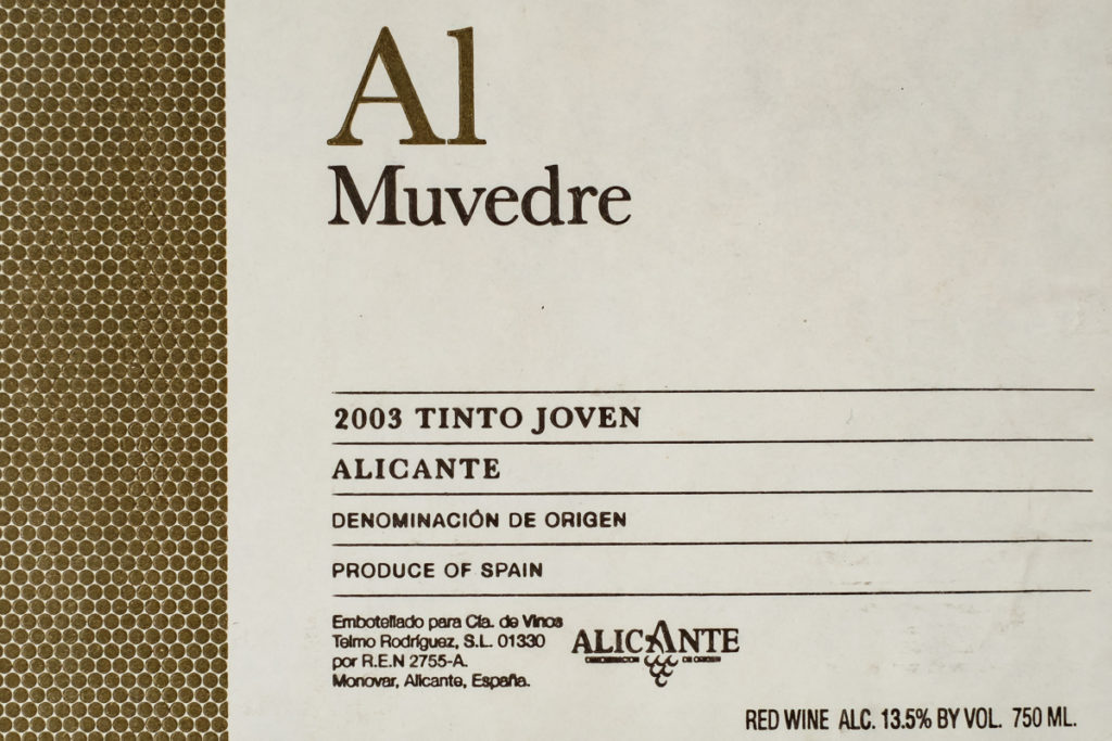 Al Muvedre 2003 - Alicante - Telmo Rodriguez