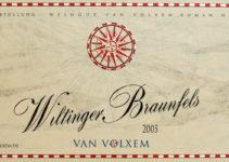 Wiltinger Braunfels 2005 - Van Volxem