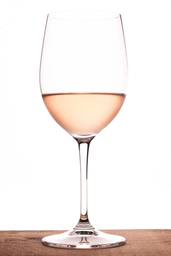 Rosewein im Weinglas