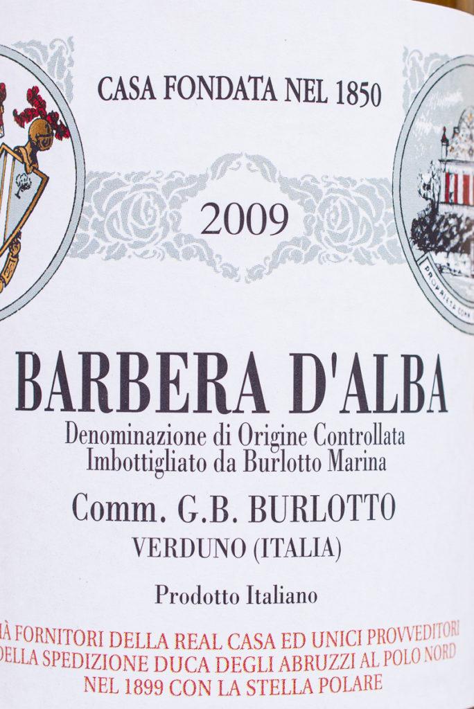 Weinetikett Barbera d'Alba