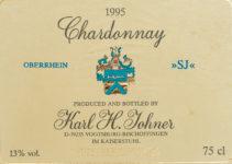 Chardonnay SJ 1995 vom Weingut Karl-Heinz Johner