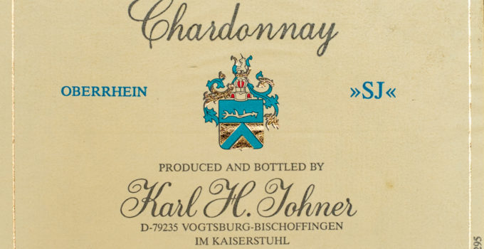 Chardonnay SJ 1995 - Karl H. Johner
