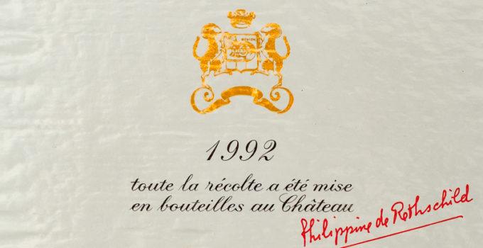 Chateau Mouton-Rothschild 1992 aus Pauillac in Bordeaux