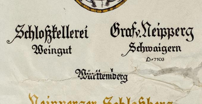 Neipperger Schloßberg - 1992 Samtrot Auslese - Graf Neipperg