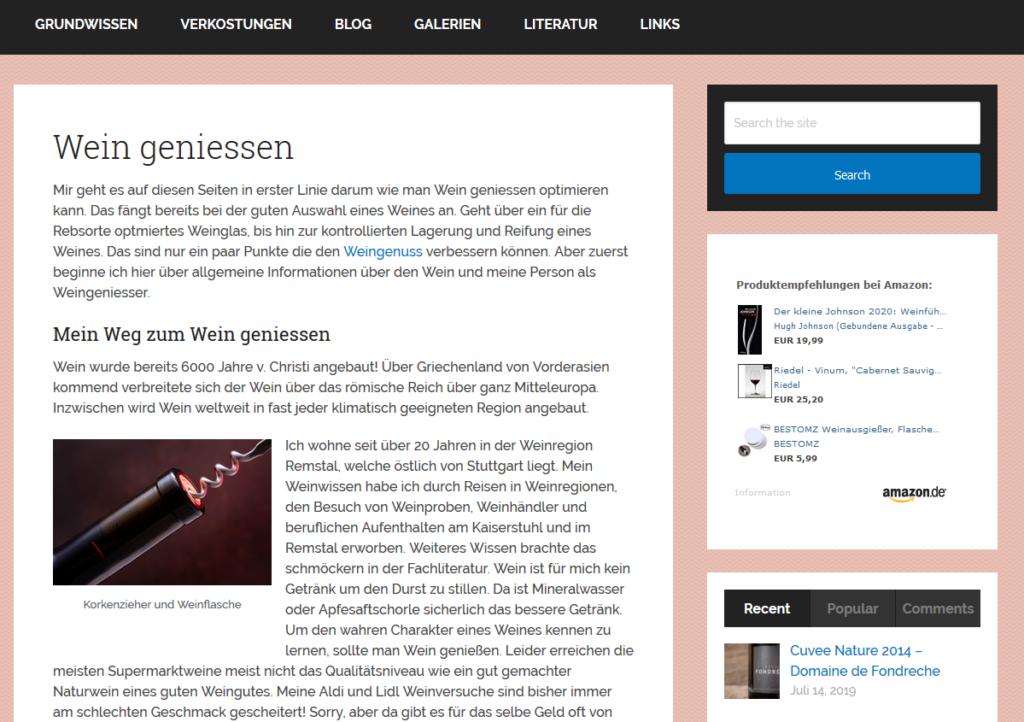 Wein-Homepage 2019 im neuen Design