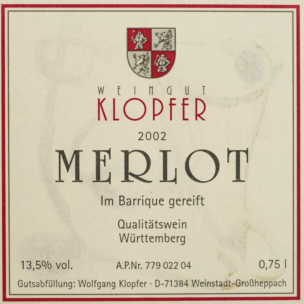 Merlot Barrique 2002 - Weingut Klopfer