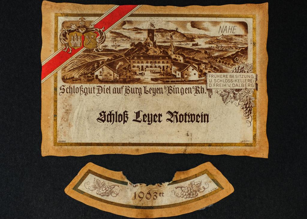 Schloß Leyer Rotwein 1963