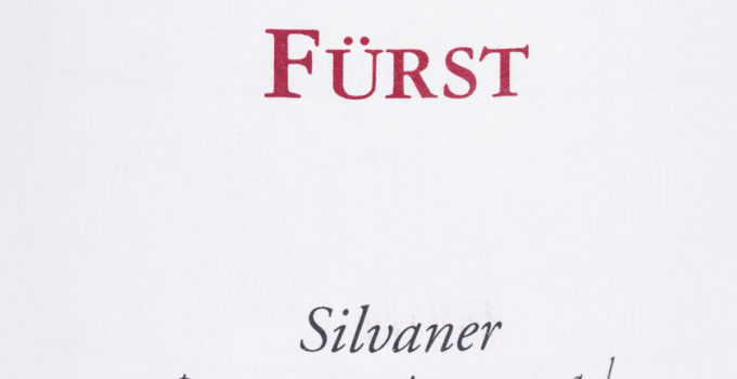 Silvaner pur mineral 2013