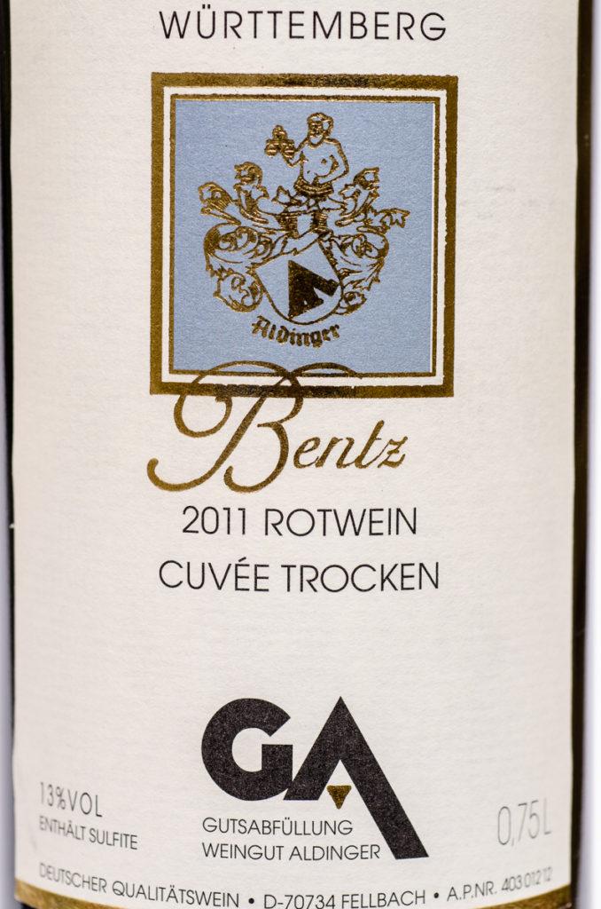 Bentz 2011 Rotwein Cuvee