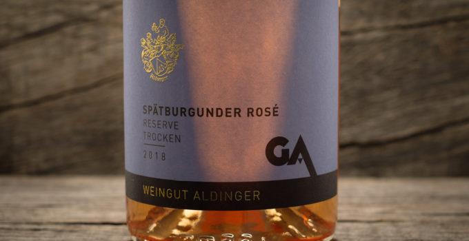 Spätburgunder Rose Reserve trocken 2018 - Weingut Aldinger