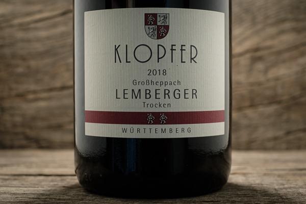Lemberger Großheppach 2018 - Weingut Wolfgang Klopfer